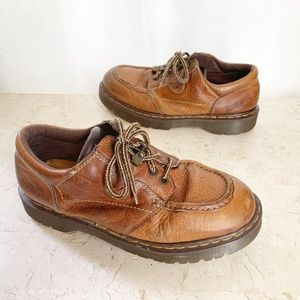 Dr Martens Shoes 9 Brown Leather Oxfords England